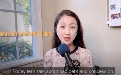 Bad debt vs Concession